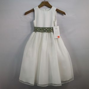 US ANGELS FLOWER GIRL DRESS SATIN AND ORGANZA
